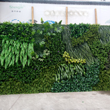 车间仿真植物墙展示06